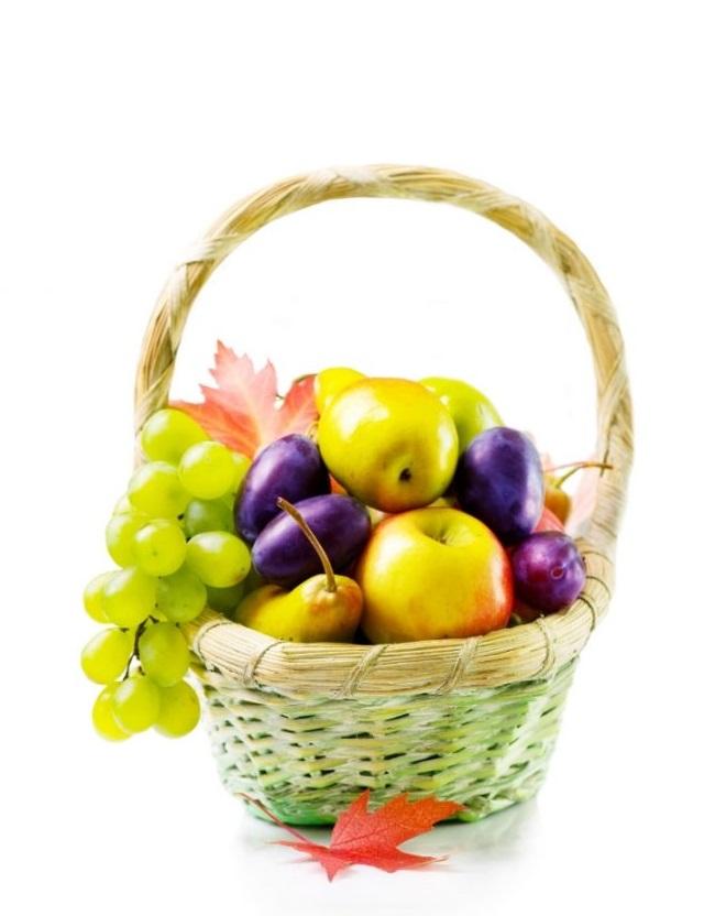 Cesta de Frutas Naturales de Temporada para Regalo.