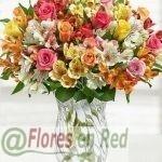 Ramo Alstroemerias y Rosas Premium