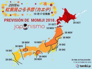 Previsión de Momiji para el 2018 - Flores en Red