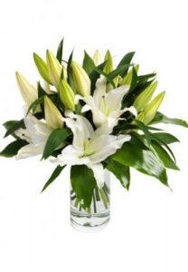 Ramo Lilium oriental San Valentín, Floristerías de Vitoria, Flores en Red, especialistas en rosas, mandar rosas San Valentín,