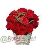 Enviar Cesta de Rosas Rojas