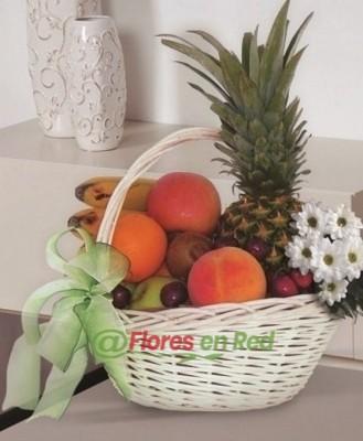 Cesta Frutas Margaritas Regalo