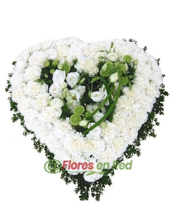 Corazón Tanatorio Blanco