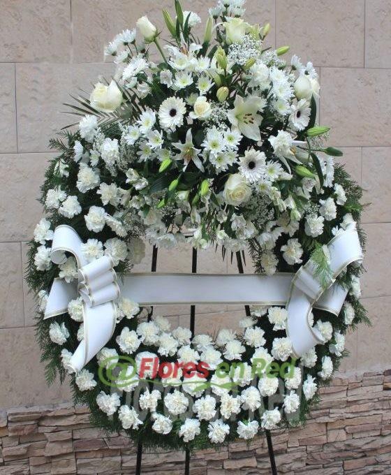 Enviar Corona Funeraria Blanca