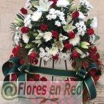 Corona Funeraria Clavel Rojo