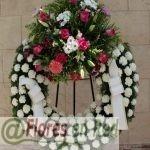 Corona Funeraria Rosada y Verde