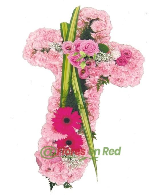 Cruz Funeraria Rosa
