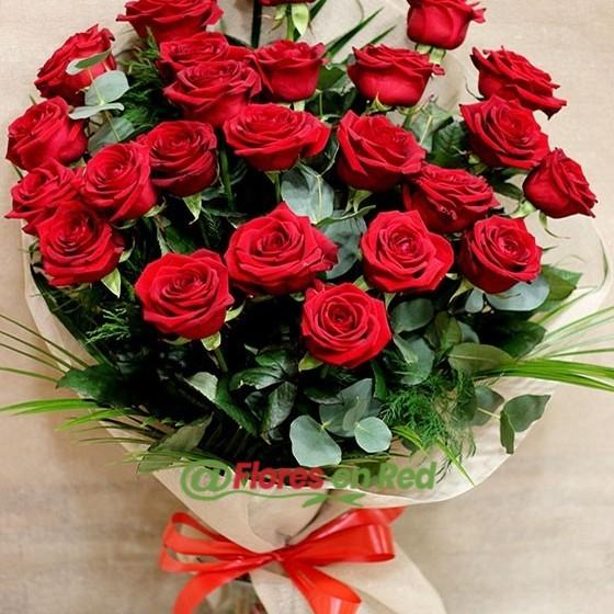 Detalle Ramo 24 Rosas Rojas