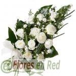 Ramo Difunto Rosas Blancas