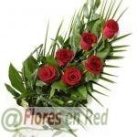Ramo Funerario de 6 Rosas Rojas