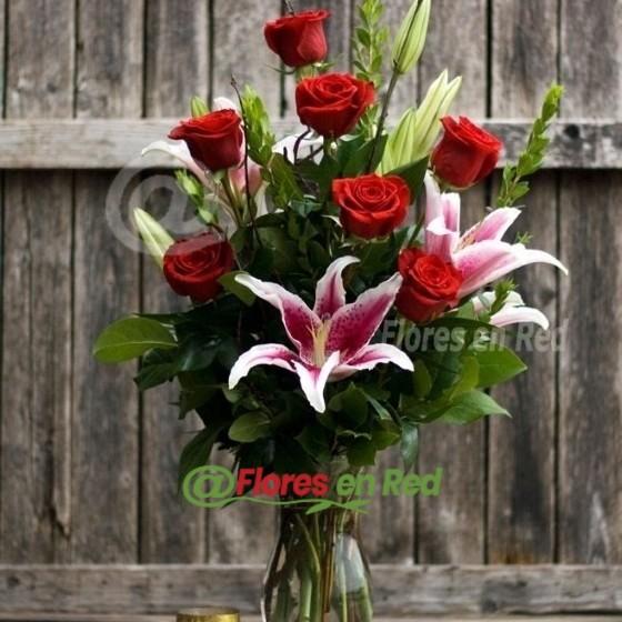 Enviar Ramo Rosas con Lilium