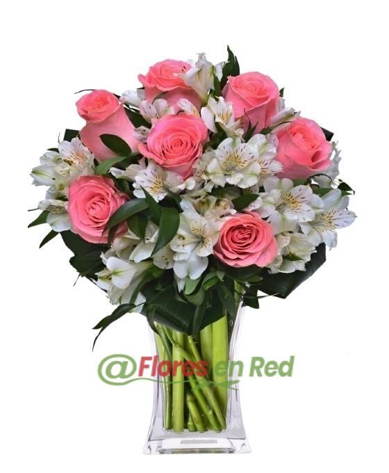 Enviar Ramo de Rosas y Astromelias