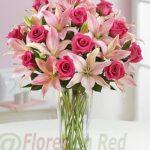 Enviar Ramo rosas rosadas Dinamarca