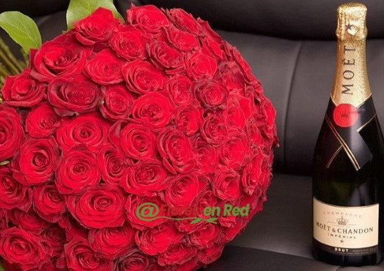 101 Rosas y Champagne